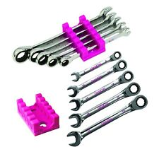 The Original Pink Box 10 PC Ratcheting Wrench Set, Metric & Standard
