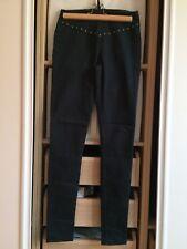 VERO MODA jean slim skinny gris foncé anthracite clous bronze taille XS/S 34/36