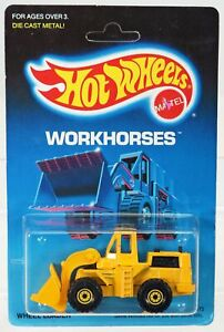 Hot Wheels Cat Wheel Loader Workhorses Series #1173 New NRFP 1988 Yellow 1:64