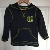 Boys George Blue Green Neon Hooded Long Sleeve TShirt Top - Age 2-3 Years