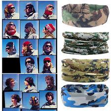 Unisex Camouflage Scarf Headband Face Mask Winter Warm Bandana Headwear Scarves&