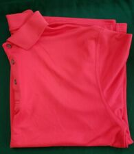 Links Edition Golf Wear Short Sleeve Polo Red Shirt Size Large
