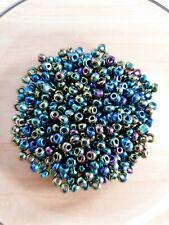 100 x REGENBOGENFARBEN Glasperlen ♥ zum Basteln/Schmuckherstellung Beads Ø 4mm