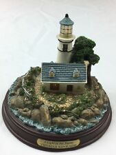 "Thomas Kinkade ""A Light In The Storm� Seaside Memories Lighted Lighthouse"