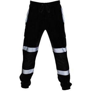 Hommes Haute Visibilité Bas Pantalon Combat Tenue De Travail Réflectif Jogging