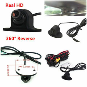 360° Adjustable Angle Car Front Side Rear View Reverse Parking Camera Waterproof