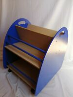 Bibliothèque à roulettes Bleu pour chambre d'enfant