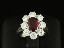 Rubin Brillant Ring ca. 3,42ct  750/- Weißgold   DEGEB-Wertgutachten 12.760,--