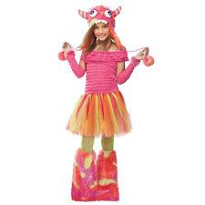 WILD CHILD MONSTER w/HOODIE HALLOWEEN COSTUME GIRLS SIZE MEDIUM 8-10