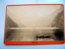 OLD ALBUMEN/CABINET CARD: KÖNIGSEE~ANIMATED~PHOTO: WÜRTHLE & SPINNHIRN