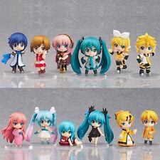 Lot 12 pcs Vocaloid HATSUNE MIKU Action Figures Luka Rin Len PVC Dolls Q Version