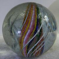 #11254m Huge 1.64 Inches German Handmade Divided Ribbon Swirl Marble