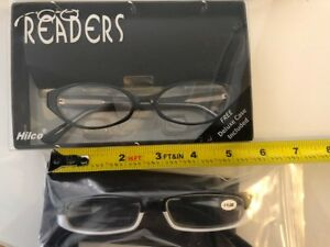 2 BRAND NEW PAIRS OF READING READERS GLASSES WOMENS +1.00