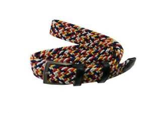 Nuovi arrivi cintura uomo intrecciata multicolor italia moda mista pelle corda