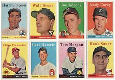VINTAGE 1958 ORIGINAL TOPPS LOT OF 16 BASEBALL CARDS IN EX+ CONDITION