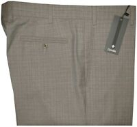 $365 NEW ZANELLA ITALY DEVON KHAKI TAUPE SUPER 130'S WOOL DRESS PANTS 36