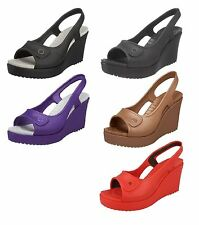 Crocs Platform, Wedge Synthetic Shoes for Women