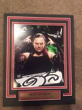 WWE WWF Jeff Hardy 11X14 Matted with name plate PHOTO AUTOGRAPH