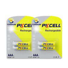 PKCELL 4PCS X NiMH AAA 1200mAh 1.2V NI-MH Rechargeable Battery Fast Ship from CA