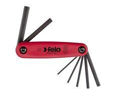 FELO 7pcs. Fold Up Hexagon Allen Keys Set, Metric 2 - 8 mm, Made in USA