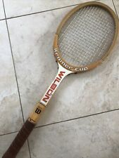 VINTAGE WILSON Kramer Cup Strata Bow Wooden Tennis Racquet
