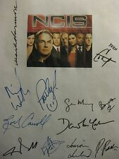 Mark Harmon Signed NCIS TV Legend Script X12 Michael Weatherly Perrette Pablo rp