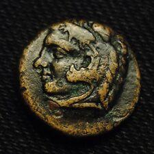 Æ17 Macedonia Herakles Lionskin Rv Tripod ΦIΛIΠΠΩN 5.65 grams 16-7mm 356-45 BC