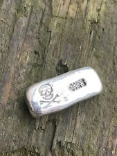 1oz Pirate  Bullion Bar - Hand Poured  (999 Fine Silver)