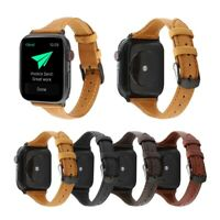 40/44mm Genuine Leather Apple Watch Band Strap for iWatch Series SE 6 5 4 3 2 1