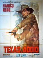 Plakat Kino Western Texas Addio Franco Nero - 120 X 160 CM