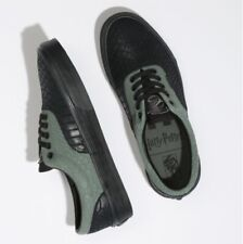 Harry Potter Era Slytherin Vans X Verde y Negro Piel De Serpiente Talla 3.5-13