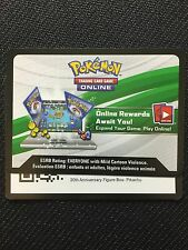 Pokemon Pikachu EX XY124 Red-Blue Collection TCGO Online Promo Code