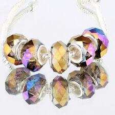 Purple AB 5pcs MURANO glass bead LAMPWORK For European Charm Bracelet
