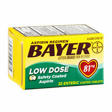 Bayer Aspirin Regimen Pain Reliever Low Dose Enteric Coated Tablets-81mg,32ct