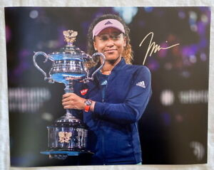Naomi Osaka signed 11x14 tennis photo Japan *PROOF*