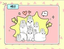Candy Poetry Machiko bunny rabbit black and white cute kawaii kitsch stickers