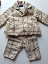 Pre-Loved 100% Auth By Burberry,  Baby Boy Designer Checked Suit. 6 Months