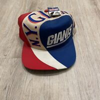 Vintage Eastport New York Giants Hat RARE NEW NFL Snapback VTG 90s Blue Red Cap