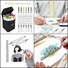 40 Colors Artist Dual Head For School Drawing Sketch Marker Copic Markers Set