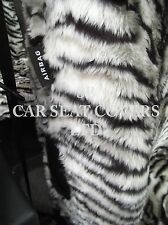 i - TO FIT A SUBARU WRX STI CAR, FRONT S/ COVERS, SILVER TIGER FAUX FUR