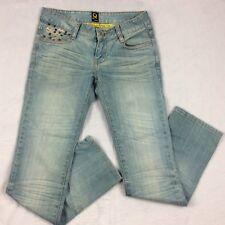 IQ Jeans Stonewash Mouse Brown PolkaDot Design Women's Size 27 Denim Jeans
