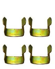 4 x  METAL DIVAN CLIPS TO JOIN DIVAN BASED BED - U CLIP - METAL BED CLIPS