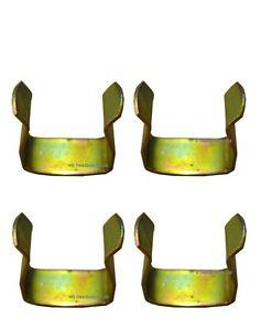 4 x  METAL DIVAN CLIPS TO JOIN DIVAN BASED BED - U CLIP - METAL BED CLIPS