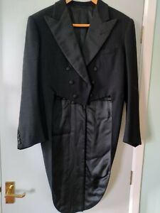 Beautifully made vintage, black tail coat by Gieves of Savile Row