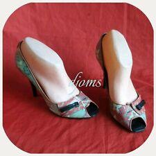 Sz 37.5 / 7 Womens Lv Louis Vuitton Richard Prince Flash Pulp Heels Shoes