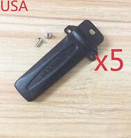 5x Belt Clip KBH-10 for Kenwood TK-2302 TK-3302 TK-2402 TK-3402 Portable Radio