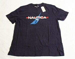 Nautica Men's 'Since 1983' Logo Sleep Tee T-Shirt CD4 Navy Medium NWT