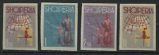 Albania Europa set of 4 imperf mint hinged stamps