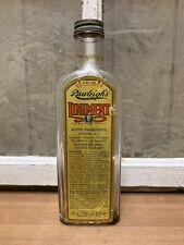 Vintage Old Rawleighs Liniment 11oz Glass Embossed Bottle Paper Label Antique