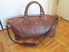 """Cutter & Buck """"The Classic"""" Leather Weekender Duffle Bag, Chestnut"""